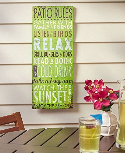 Summer Fun Rules Patio Sign