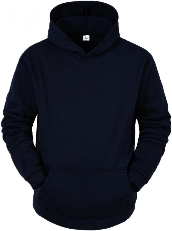 VEKDONE Unisex Casual Athletic Hoodies Sport Sweatshirt Long Sleeve Loose Solid Color Fleece Pullover with Kangaroo Pockets