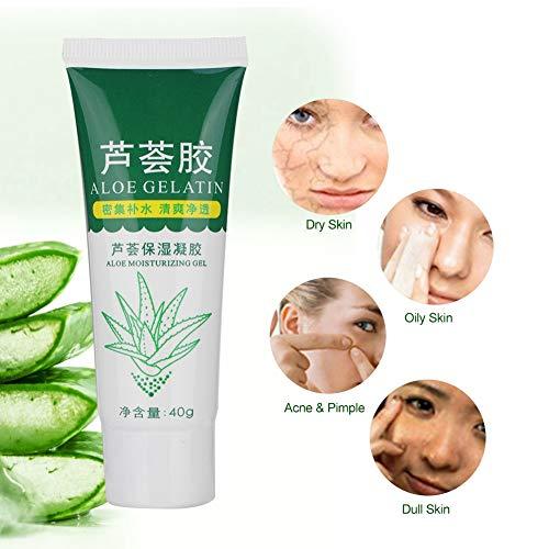 Gel de aloe vera natural, reparador y tratamiento de la piel, para después del sol, acné, acné, cicatrices, crema facial, hidratante e hidratante