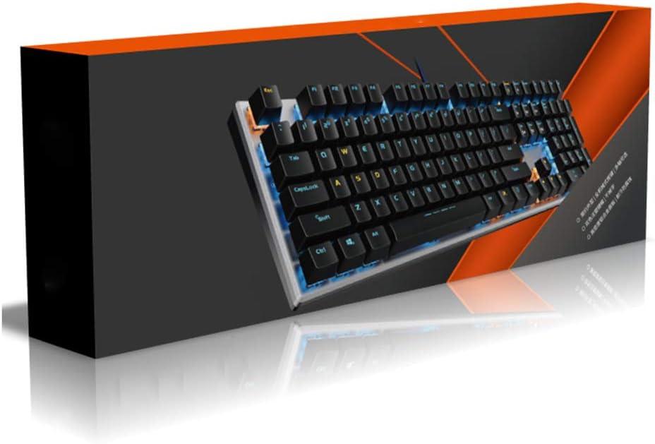 Color : C Jiu Si Cool Mixed Light RGB Backlit Keyboard USB Interface Keyboard E-Sports Game Mechanical Wired Keyboard 108 Key