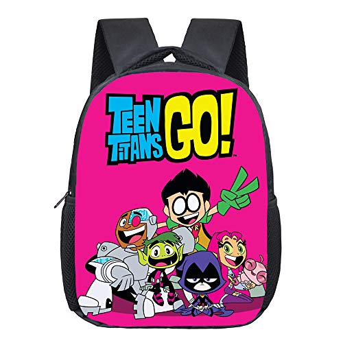 Teen Titans Go Mochila Casual Mochilas de niños de Estilo Simple for