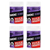 Insectokil Smoke Bombs (Pack of 4) Smoke Bomb Foggers For Effective Control Of All Flying And Crawling Insects | Kills All Fleas, Bedbugs, Moths, And Other Insects Both In & Out Of Sight