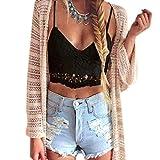 Xinan Mode Damen Weste, Frauen Crochet Behälter-Unterhemd Spitze Weste Bluse Bralet Bra Crop Top...