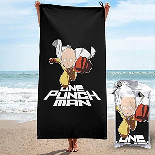 SHIJIAN One Punch Man Ok Saitama Toallas de playa toallas de mano Sábanas de baño de lino er manta absorbente viaje grande piscina trajes de baño novedad toallas 31.5 'x 63'