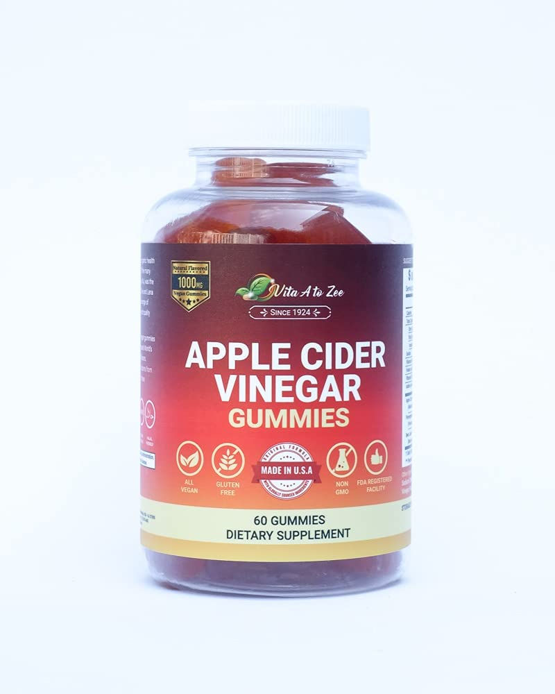 Vita A to Online limited product Zee Apple Cider Vinegar Gummies 1 Sales results No. 1 mg Count 000 60