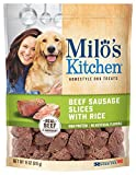 Milo's Kitchen Beef Sausage Slices with Rice Dog Treats, 18 Ounce (Each) - 4 Pack