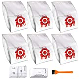 GPAA 6 PCS Replacement Compatible AirClean 3D Efficiency Dust Bag for Miele FJM,CompactC2,S241,S290,S300i,S500,S700,S4,S6 Series Canister Vacuum Cleaner Replaces Part # 10123220(6 Bags & 2 Filters)