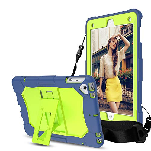 DONWELL - Funda para iPad de 9,7 Pulgadas 2018/2017, Resistente, a Prueba de Golpes, Resistente, con Correa para el Hombro, Compatible con iPad 6/iPad 5/iPad Pro 9.7/iPad Air