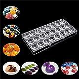 Lembeauty - Molde de plástico transparente 24 en 1 para hacer chocolate semiesferas
