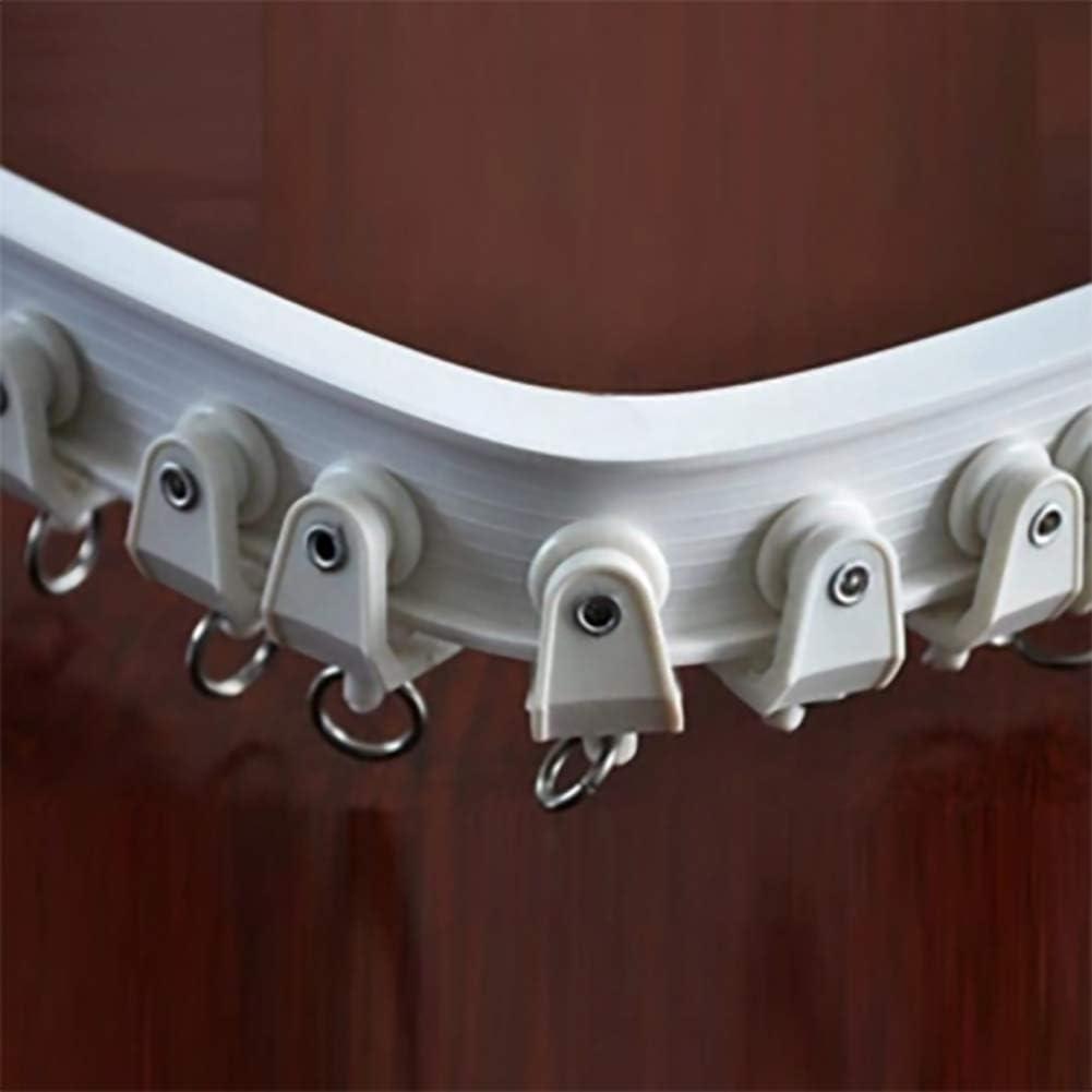 Flexible Bendable Straight Curved Curtain Track pour L Shape U Shape Bay Windows Douche Rideaux Chambre Diviseur 2m YCAXZSH Piste De Rideau De Plafond