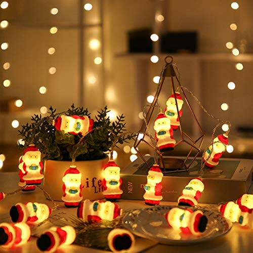 Ibesecc 3 Meter 20 LED Christmas String Lights 2 Modes Waterproof Santa Claus String Lights for Xmas Garden Patio Bedroom Indoor Outdoor