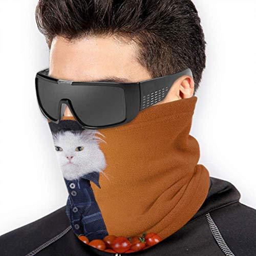 LONGYUU Lustige Katze Mit Tomate Gesichtsmaske Sun Dust Bandana Gesichtsmaske Gesichtsmaske Sonnenschutz Multifunktions Für Winter Kaltes Wetter Warmhalten Für Herren Damen