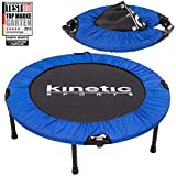 Kinetic Sports Fitness Trampolin, TOP Marke Testbild Auszeichnung!, Indoor Minitrampolin, Sprungtraining, Smart Jumping Workout, platzsparend faltbar, Ø 96cm, bis 100kg