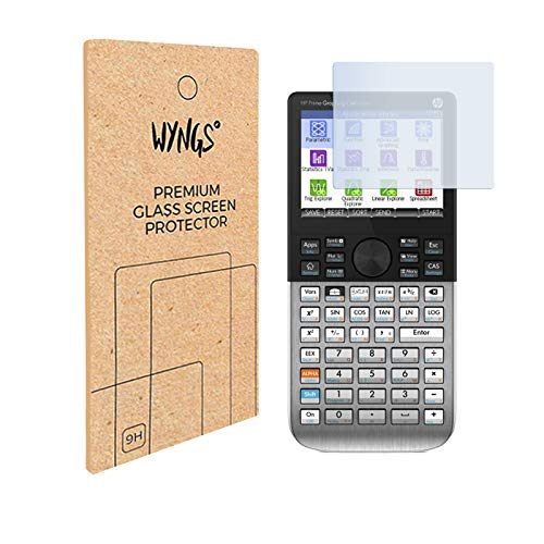 WYNGS Panzerglas Displayschutzfolien kompatibel mit HP Prime grafischer Taschenrechner (2 Stück)