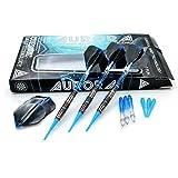 CUESOUL AURORA SERIES 18gソフトチップタングステンダーツセット、青色窒化チタンコーティング(N2111)
