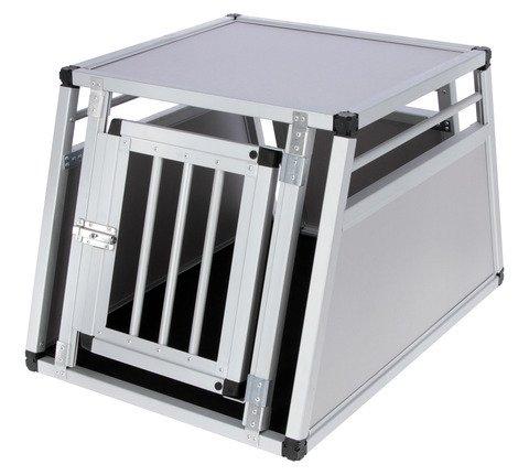"""Kerbl Auto Alu–Transportbox """"Barry"""" eintürig oder zweitürig für den Hund in 3 Größen inklusive Antirutsch Thermoteppich (92x65x65,5cm (1 T.))"""
