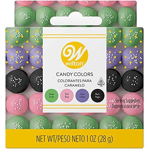 Wilton Candy Colors .25oz 4/PkgPink, Green, Violet & Black