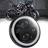5,75 Pollici Faro LED Moto, 150W Faro Moto Angel Eyes con Cavo di conversione per Harley Road King, Road Glide, Street Glide and Electra Glide