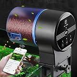 Nikou Alimentador de Peces - Alimentador de Peces de Acuario WiFi programable automático, dispensador automático de...