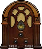 Crosley CR31D Companion Retro Am/FM Tabletop Radio with Bluetooth Receiver, Walnut