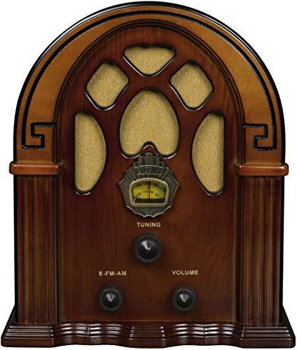 Crosley CR31D Companion Retro Am/FM Tabletop Radio with Bluetooth Receiver, Walnut