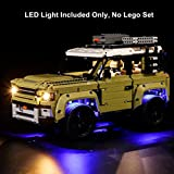 Haoun Lighting Kit for Land Rover Defender Building Blocks Model, Light Kit Accessories Compatible with Lego 42110,Light Included Only, No Lego Set - Basic Version