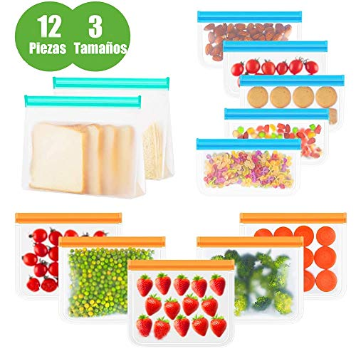 Bolsas Reutilizables para Almacenamiento de Alimentos 12 Pie