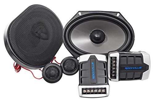 Pair Rockville RV68.2C 6x8 / 5x7 Component Car Speakers 900 Watts/170w RMS CEA