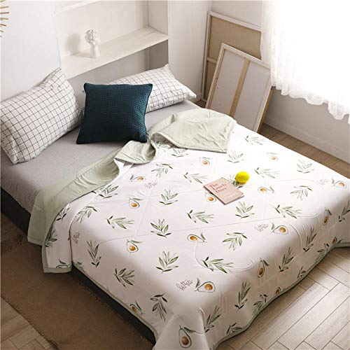 chenyaya All Season Bedspread,Latex summer quilt anti-mite and sterilization, tencel washable and machine washable thin duvet-Avocado_78.74 * 90.55inch