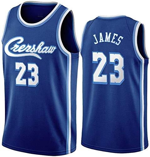 WSWZ Camiseta De La NBA para Hombre, Camiseta De Los Angeles Lakers NBA 23# Lebron James, Camiseta Deportiva Camiseta NBA Comfortable Swingman Basketball,A,S(165~170CM/50~65KG)