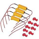 Quattro Resistori Di Carico Nebbia-A-Singolo Da 50W 60 Ohm Per Automobili Led Drl Per Il Fissaggio Di Lampadine A Led