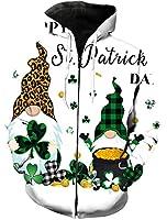 パーカー 聖パトリック クローバー 小人 緑色 長袖 フード付き 無地 カジュアル 秋服 トップス 3Dプリント レディース メンズ 暖かい ストリートポケット付き 男女兼用 XXXL