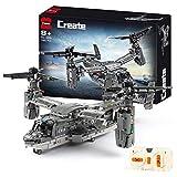 WANCHENG Helicóptero técnico V-22 Osprey con mando a distancia y motor, 1685 piezas, compatible con Lego Technikmould King 13003