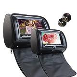 Eincar 7''Dual poggiatesta lettore DVD Wide View Screen LCD HD 800 * 480 Risoluzione auto poggiatesta DVD monitor del cuoio sintetico di sostegno del monitor dell'automobile del USB di deviazione sta