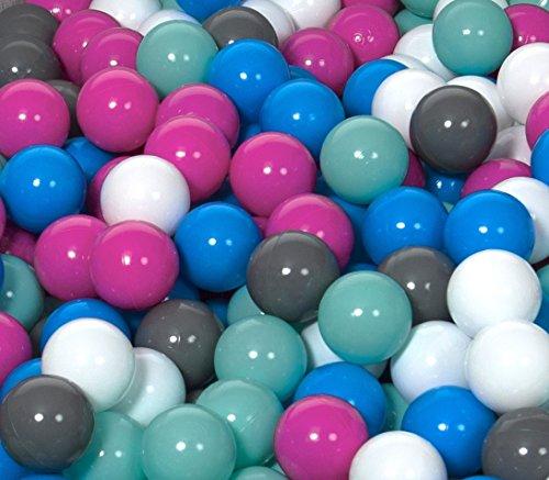 Conjunto de bolas pelotas para piscina infantil 150 piezas, O 7cm (Colores...