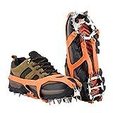 Puños Ice Snow, Puntos antideslizantes de escalada al aire libre para zapatos en derivación de hielo Drifts de invierno Crampones Pechones de hielo Pendientes para botas Raquetas de nieve para caminar