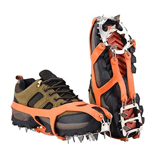 Durevole Puntos antideslizantes de escalada al aire libre para zapatos en derivación de hielo Drifts de invierno Crampones Pechones de hielo Pendientes para botas Raquetas de nieve para zapatos puños