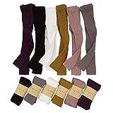 Baby Girl Knit Ribbed Leggings Toddler Footless Tights Kids Little Girls Dress Bottom Basic Pants (6 Packs Multicolor,1-3T)