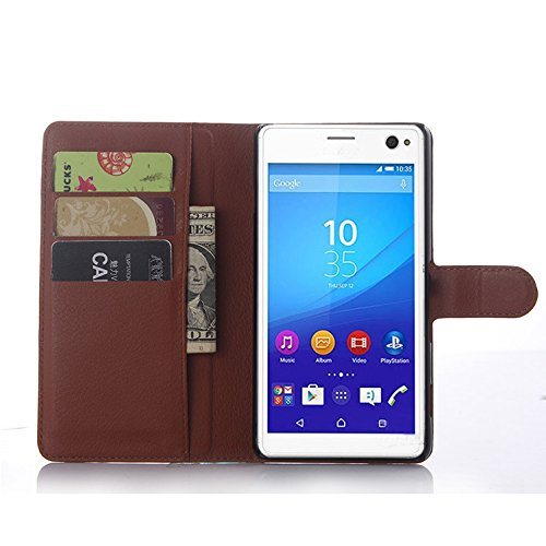 NEKOYA Sony Xperia C4 Hülle,Sony Xperia C4 Lederhülle,Handyhülle im Brieftasche-Stil für Sony Xperia C4.Schutzhülle mit [TPU Innenschale] [Standfunktion] [Kartenfach] [Magnetverschluss]