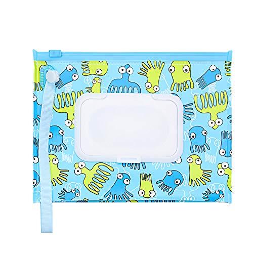 KUNHEV Bolsa de toallitas húmedas, al aire libre Flip Cover Snap-Strap Productos...