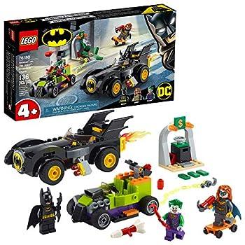 LEGO DC Batman  Batman vs The Joker  Batmobile Chase 76180 Collectible Building Toy  Includes Batman Batgirl and The Joker Minifigures Plus Buildable Batmobile and Hot Rod New 2021  136 Pieces