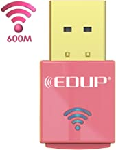 EDUP Wireless Adapter for Laptop, USB WiFi Adapter Dual Band AC600Mbps 5GHz and 2.4GHZ (433Mbps/150Mbps) WiFi Dongle for Win 10,Win8.1,Win7,WinXP,Win Vista,Mac OS10.7-10.14