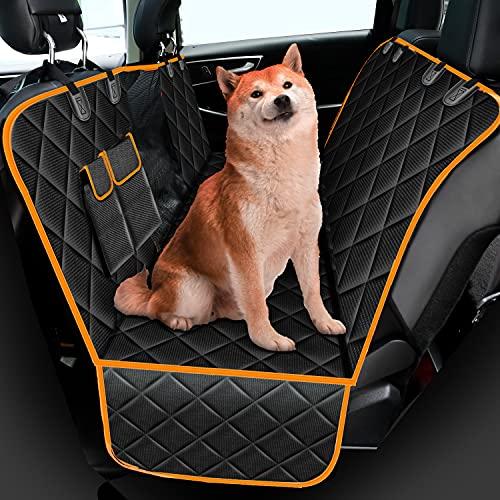 Autositzbezüge für Hunde, 600D Oxford Stoff Hunde Rücksitzschutzbezug Hundedecke für Auto Rükbank, Wasserdichter rutschfester Rücksitzschutz mit Sichtfenster und Taschen, für Auto, Van, SUV, 146×137cm