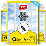 PIC – unauffällige Fliegenfalle als Fenstersticker – 12 Klebefallen mit Mandala-Motiv für Fast unsichtbare Fliegen – geruchsneutrale Anti-Fliegen-Aufkleber für Küche, Schlaf- und Wohnzimmer