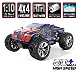 HSP RC Car 1/10 Scale 4wd Off Road RC Car Electronic Monster Truck 4x4 Vehicle Toys Brushless Motor Lipo Battery High Speed 60km/h RTR Hobby Grade Cross-Country Remote Control Car