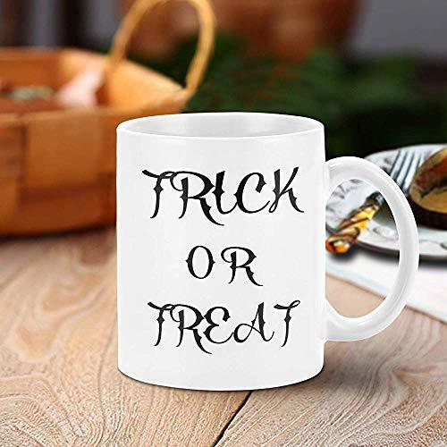 Taza de café de Halloween Truco o trato Taza de café divertida Novedad Regalos de Halloween Taza de café de cerámica Decoración de fiesta de Halloween 11oz Presente de octubre