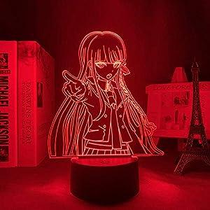 3D Night Light for Kids,Danganronpa Kyoko Kirigiri Led Lamp for Room Decor Kids Child Danganronpa Acrylic Desk Lamp Kyoko Kirigiri for Birthday/Xmas