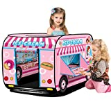 deAO Ice Cream Truck Foldable Play Tent –Children Play House Indoor Outdoor Play Toy Great Gift for Girls Boys 3 4 5 Years Old