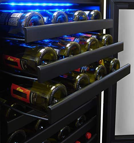 Vinotemp 54-Bottle Touch Screen Wine Cooler, Black