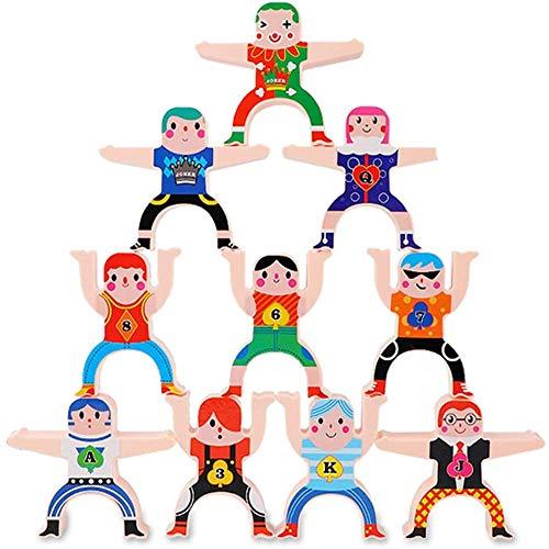 Stackrobats Building Blocks Sets Models Figures Toys Stack Tumble Repeat, Hercules Jenga Balanced Villain Childrens Puzzle DIY Stacks of High Building Blocks Board Game 3-8 Years Old Toys